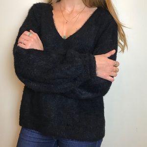 Fluffy black soft sweater size m